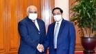 Thủ tướng Phạm Minh Chính tiếp Đại sứ Cộng hòa Cuba Orlando Nicolás Hernández Guillén. Ảnh: VIẾT CHUNG