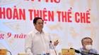 Thủ tướng Chính phủ Phạm Minh Chính phát biểu tại hội nghị về công tác xây dựng và hoàn thiện thể chế