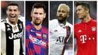 Ronaldo, Messi, Neymar vả Lewandowski