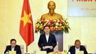 Chủ tịch Quốc hội, Chủ tịch Hội đồng bầu cử quốc gia Vương Đình Huệ điều hành phiên họp. Ảnh: VIẾT CHUNG