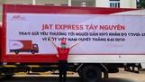 J&T Express chi nhánh Tây Nguyên ủng hộ nhu yếu phẩm cho người dân khó khăn