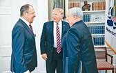 特朗普上周三在白宮會晤俄國外長拉夫羅夫和俄駐美大使基斯利亞克。(資料圖來源:互聯網)