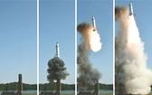 """朝鮮《勞動新聞》22日報導朝鮮成功試射""""北極星2""""型導彈。(圖源:互聯網)"""