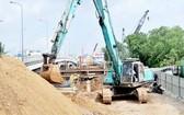 二天堂1橋工程正在施工。