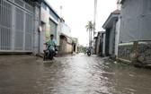 第十二郡盛春坊蘇玉雲街通往何輝甲 街的巷子經常受淹。