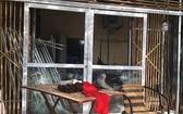 勇哥私宅遭歹徒破壞的現場。(資料圖來源:Vnexpress)