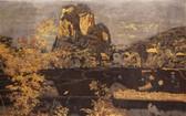 最近在香港佳士得拍賣行以59萬5771美元的價格拍得的由黃積酬與阮進鐘創作的磨漆畫La Moyenne Région成為該拍賣會上的焦點。(圖源:互聯網)