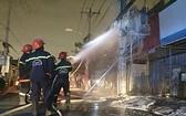 消防隊正處理第二郡某電纜起火事故。(圖源:市消防局)