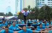 慶祝第3次國際瑜伽日。(圖源:VOV)