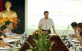 新聞與傳播部副部長范鴻海在會議上發表指導意見。(圖源:光英)