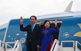 圖為國家主席陳大光與夫人。(圖源:長山)