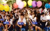 圖為初中學校學生參加開學典禮。(示意圖源:互聯網)