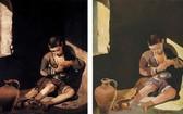 由Jean Francois Hubert保證、據悉是知名畫家蘇玉雲的作品《明天之夢》(右)其實是模仿西班牙畫家作品的偽畫。