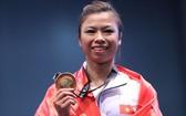 黃氏芳江奪得女子棍術 套路金牌。(圖源:互聯網)