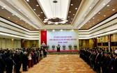 圖為政府總理阮春福與夫人主持的款待外交宴會現場。(圖源:Info.net)