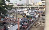 河內市在努力尋找措施緩解交通擁堵。(示意圖源:互聯網)