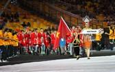 越南殘疾體育代表團出場。