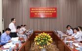 祖國陣線中央委員會主席陳清敏在會議上發表講話。(圖源:光榮)