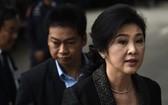 """泰國最高法院27日對""""大米瀆職案""""宣判,英祿仍未能出庭,法庭判處英祿5年有期徒刑。圖為8月1日英祿出庭。(圖源:Getty Images)"""
