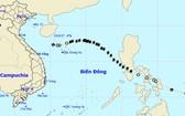 13 號颱風轉弱成熱帶低氣壓。(圖源:中央水文氣象預報中心)