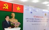 本市經濟大學副校長阮友輝日教授在開學典禮上致詞。(圖源:市勞動聯團)