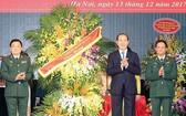 國家主席陳大光出席越南人民軍建軍日73週年紀念儀式。(圖源:越通社)