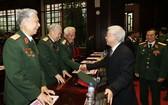 阮富仲總書記出席退伍軍人協會全國大會。(圖源:越通社)