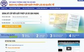 河內市實行在線簽發國際駕照。(圖源:河內市交通運輸廳網站截圖)