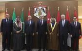來自六個阿拉伯國家的外長或外交大臣及阿拉伯國家聯盟秘書長當地時間6日在約旦首都安曼召開會議,重申對美國承認耶路撒冷為以色列首都這一決定的抵制和抗議。(圖源:路透社)
