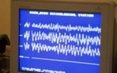 地震儀紀錄此次振動起伏幅度的曲線。(圖源:越通社)