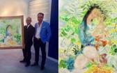 陳俊鈴收藏家在香港Sothby's拍賣行投得黎普的《花園內母子》畫作。