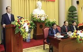 國家主席陳大光出席及發表指導會議意見。(圖源:顏創)