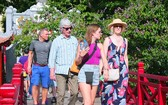 本月份,前來我國的國際遊客量概算達逾143萬人次,同比增42%。(示意圖源:互聯網)