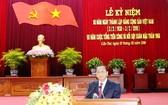 芹苴市市委書記陳國忠在會議上致詞。(圖源:晉永)
