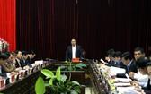 范明政同志在會議上發表講話。(圖源:奠邊府報)