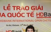 阿根廷棋手Mareco Sandro 以7.5分奪冠。