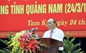 政府總理阮春福在會上致詞。(圖源:藍芳)