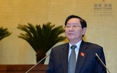 內務部部長黎永新擔任公務檢查工作組組長。(圖源:Quochoi.vn)