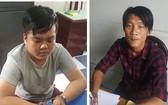 被抓獲的2名銀行劫案嫌犯陶玉南(左)和阮長凱。(圖源:阮新)