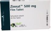 慎防 Zinnat 500mg 假藥。(示意圖源:互聯網)