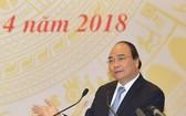 政府總理阮春福出席全國有關物流會議並發表講話。(圖源:越通社)