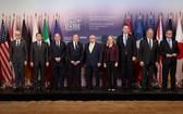 當地時間2018年4月23日,加拿大多倫多,七國集團外長會議繼續召開,與會者參加合影。(圖源:路透社)