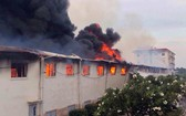 KANGNA VN CO.,LTD 紡織廠的倉庫火警現場。