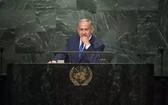 以色列總理內塔尼亞胡在聯合國。(圖源:Getty Images)