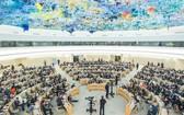 聯合國人權理事會在日內瓦召開的特別會議。(圖源:聯合國)