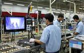 越南三星公司的生產線一隅。