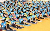 瑜伽表演節目一瞥。(圖源:麗秋)