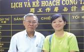 王沛川校長與學生李美霈(右)合照。
