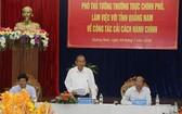 政府常務副總理張和平主持會議並發表講話。(圖源:VOV)
