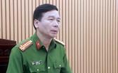 河內市公安廳所屬刑警科(PC45)主任阮平上校向媒體提供訊息。
